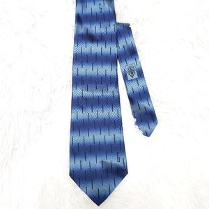 Gucci G Designer Blue and Black Silk Men's Tie